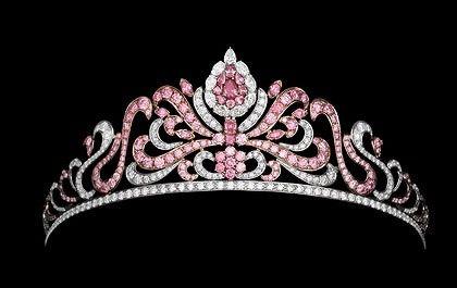 Argyle Pink Diamond Tiara, contains a total of 178 Argyle pink diamonds!
