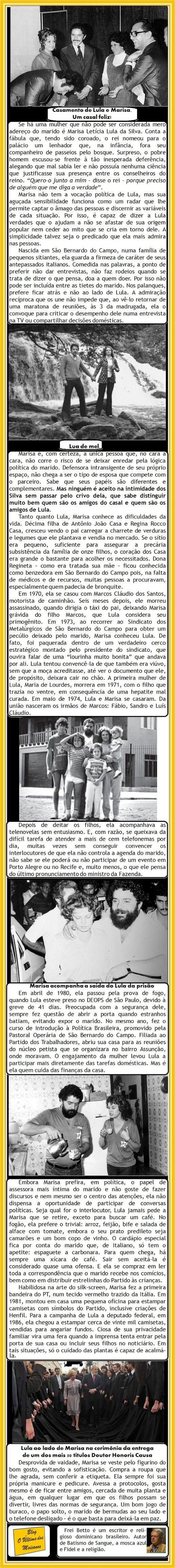 O Último dos Moicanos: Freu Betto emociona o Brasil com esta homenagem à Dona Letícia Lula da Silva