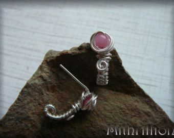 Nice Wraped Earring with a small morganite bead - Edit Listing - Etsy