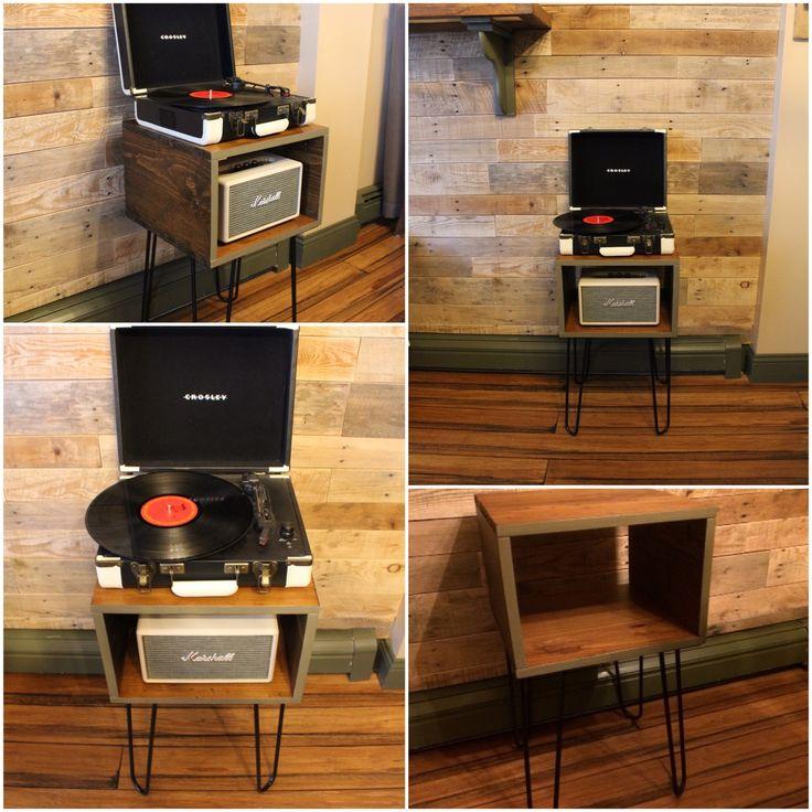 Retro record player / speaker table