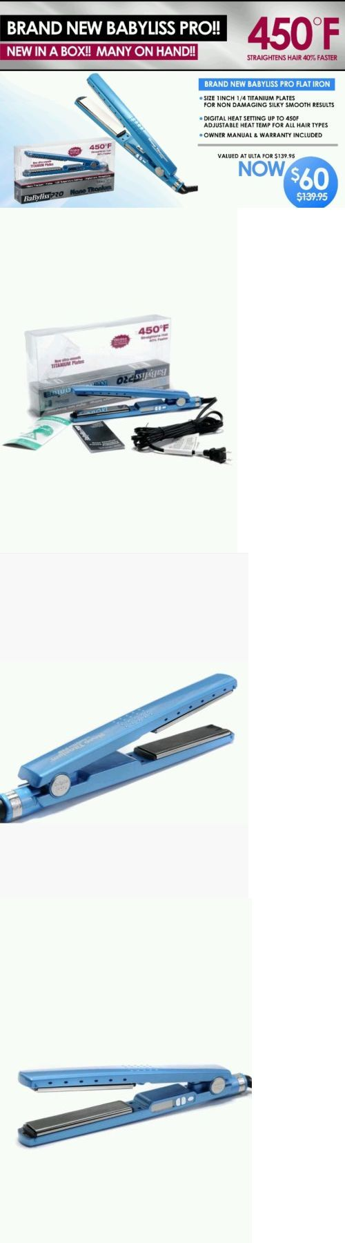 Straightening and Curling Irons: Babyliss Pro Nano Titanium 1 1/4 Straightening Flat Iron BUY IT NOW ONLY: $60.0