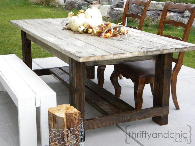 air force 1 acid wash denim DIY outdoor farmhouse table MAKE OUT OF PALLETS OR CEDAR