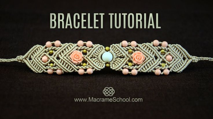 Incredibly Mirrored Macramé Bracelet TUTORIAL by Macrame School