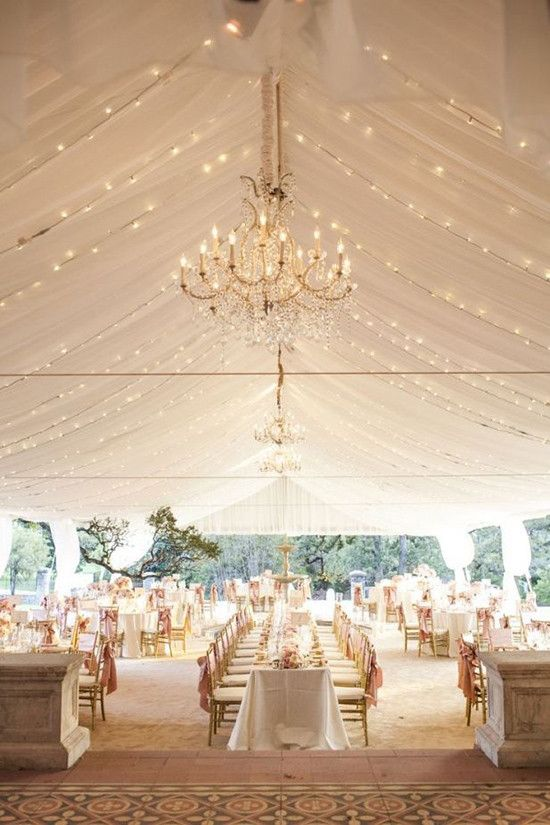 Gold wedding reception and lighting ideas.