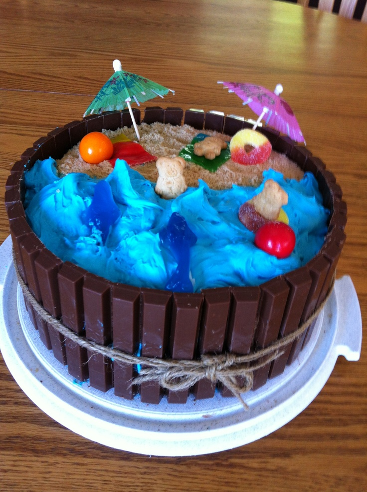 Filip S 9th Birthday Beach Amp Ocean Cake My Creations