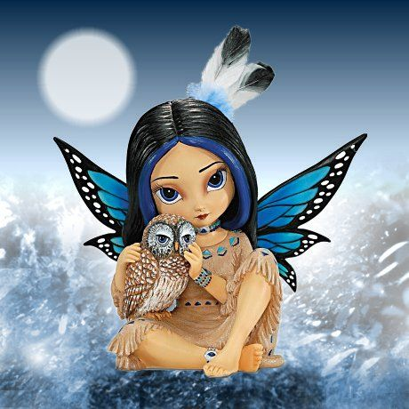 Jasmine Becket-Griffith Moonheart, Spirit Of Wisdom Native American-Inspired Fairy Figurinecarosta.com