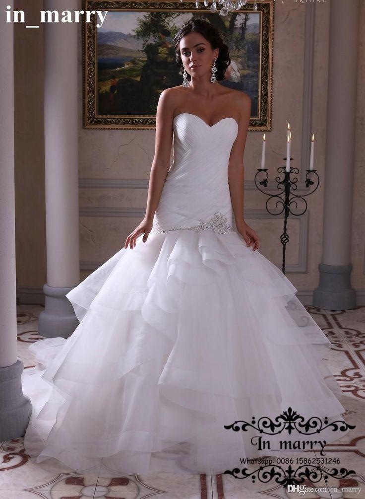 Fancy Sexy Plus Size Mermaid Style Arabic Wedding Dresses Cascading Ruffles Corset Crystal Beaded Ruffles Boho