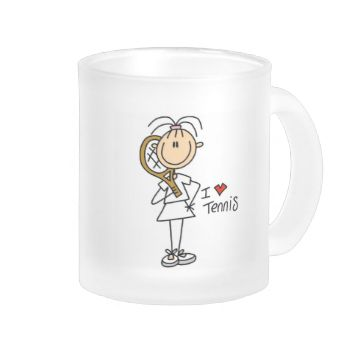 A female stick figure tennis player and a red heart on I Love Tennis T-shirts, hoodies, mugs, cards, stickers, magnets, and other women's tennis design apparel and gifts. #tennis #girls #womens #womens #tennis #girls #tennis #kid #tennis #sports #womens #sports #tennis #player #tennis #gifts #tennis #design #peacockcards #stick #figures #stick #people #cute #tennis #love #tennis
