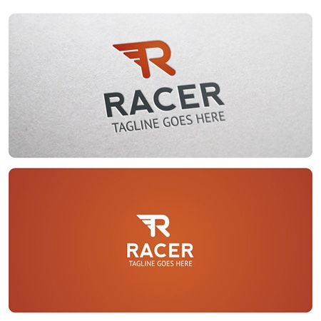 Racer Logo is highly suitable for Racing, Auto and Moto businesses, Repair shop, Rental, Tuning, Delivery, Sport and many other.
