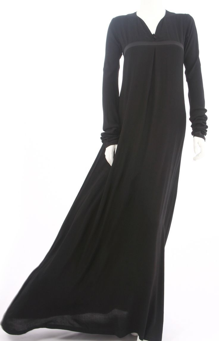 Simple full black abaya from UK