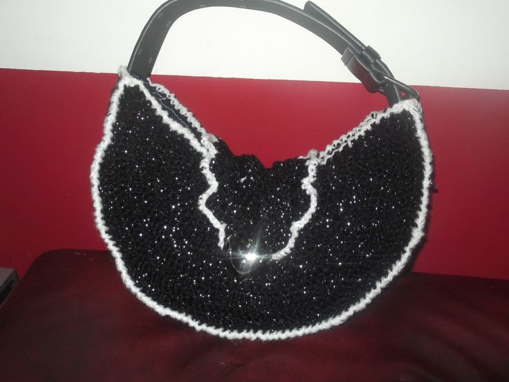 a crochet belt bag