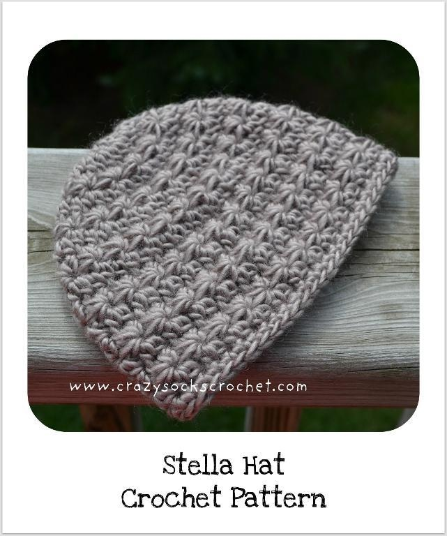 Crochet Jasmine Stitch Hat : Stella Beanie (star stitch hat) #pattern Crochet/Knit Pinterest
