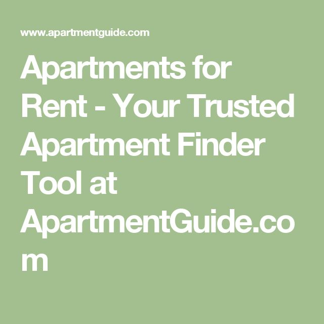 Apartments for Rent - Your Trusted Apartment Finder Tool at ApartmentGuide.com