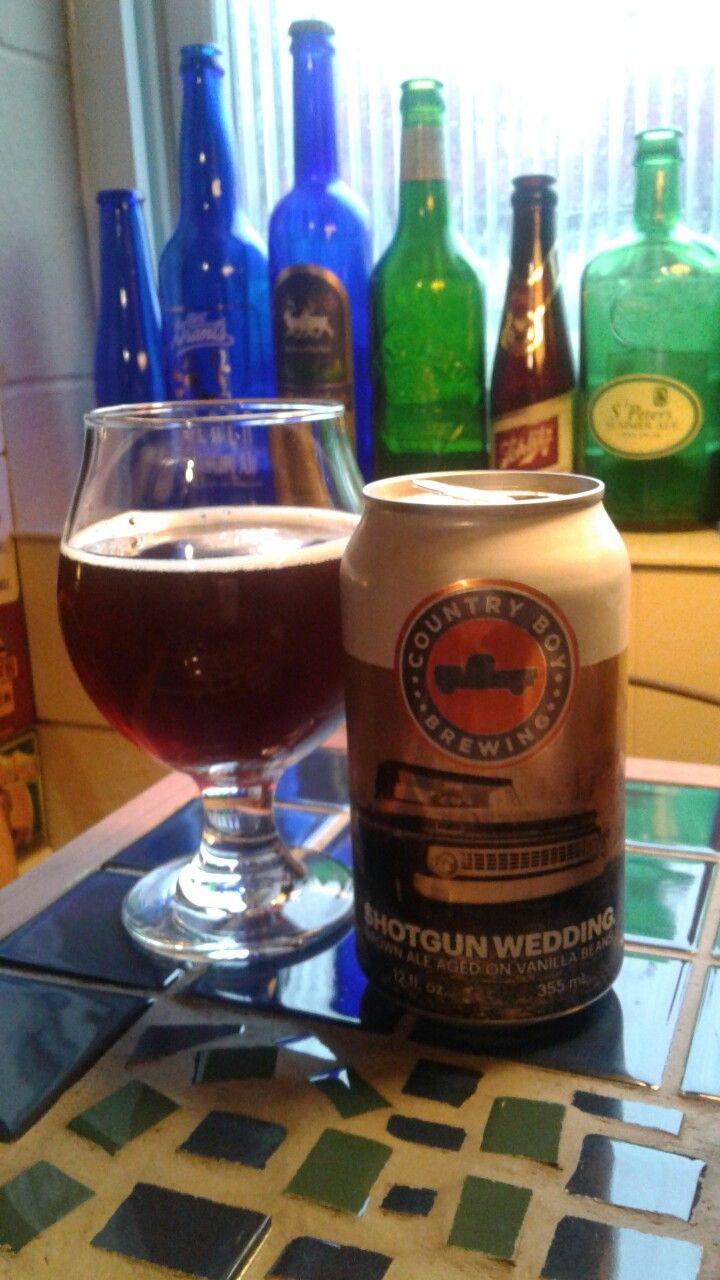 Shotgun Wedding - A Brown Ale  Aged on Vanilla Beans by Country Boy Brewing, Lexington, Kentucky