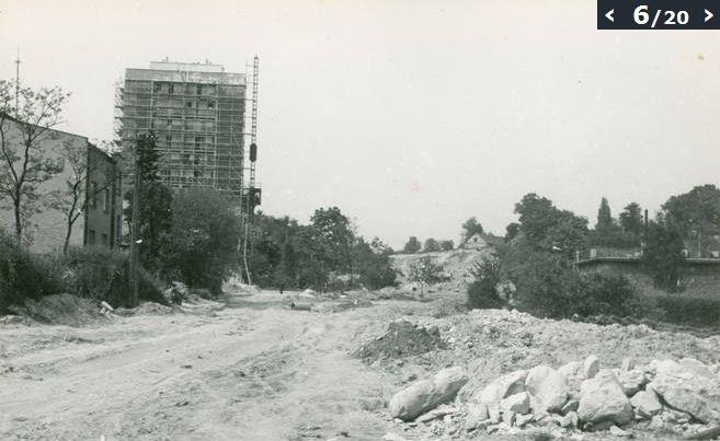 Lublin, ul. Wiejska  maj 1971