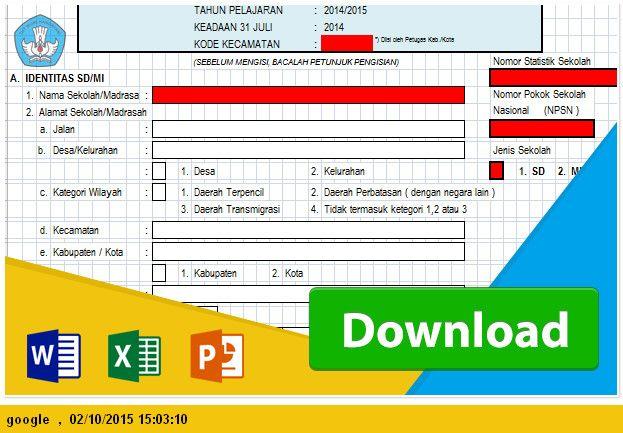 [Program .xlsx] LAPORAN INDIVIDU UNTUK PAUD/TK SD/MI SMP/MTS SMA/SMK SMK/MA MENGGUNAKAN MICROSOFT EXCEL