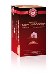 ROSA DI BOSCO POMPADUR -   Delicato infuso alla rosa di bosco, gustoso e dissetante. Ingredienti: Rosa canina, fiori di ibisco (karkadé). Contenuto per astuccio: 20 x 3,5 g = 70 g