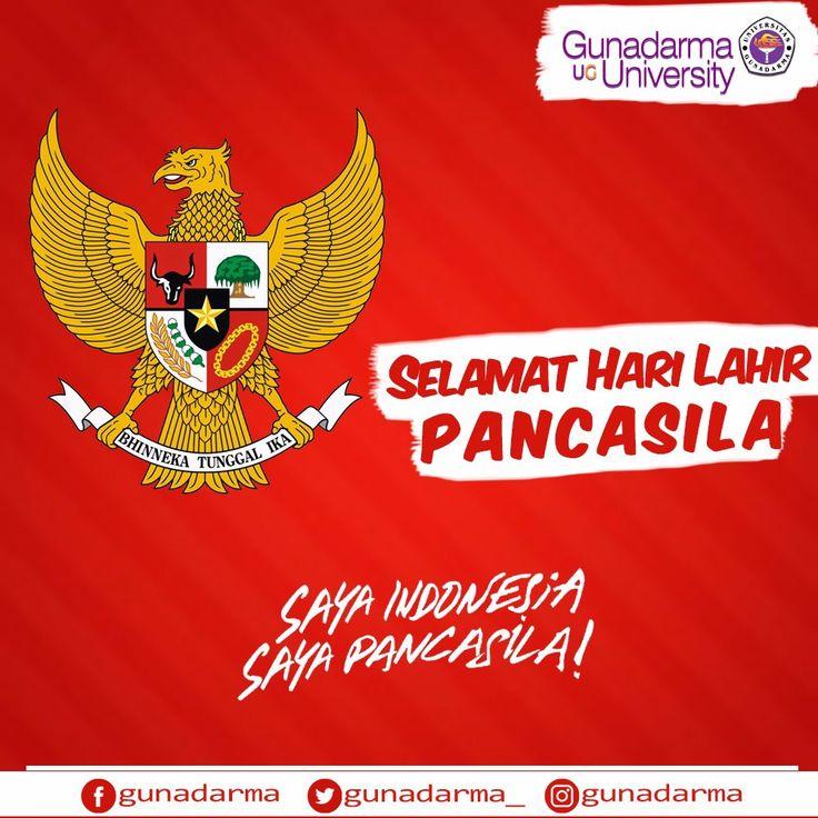 """Kita semua Indonesia, kita semua Pancasila, semua Anda Indonesia, semua Anda Pancasila, Saya Indonesia, saya Pancasila"".   Selamat memperingati Hari Lahir Pancasila."