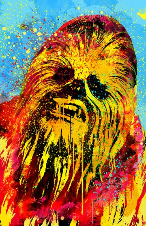 chewbacca pop art my star wars obsession pinterest pop art art and pop. Black Bedroom Furniture Sets. Home Design Ideas