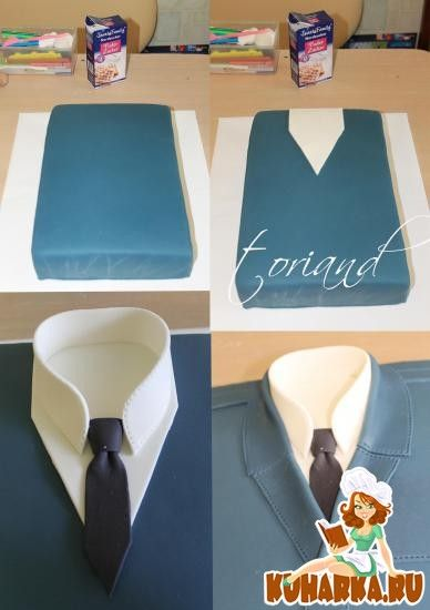 Shirt cake Tutorial. Father's Day!
