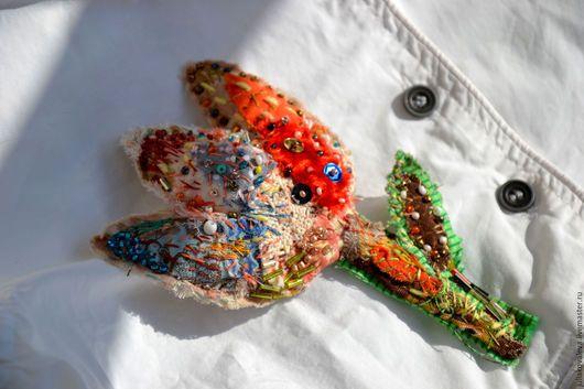 Броши ручной работы. Ярмарка Мастеров - ручная работа. Купить Брошь Бохо Цветок текстильная. Handmade. Комбинированный, бохо украшения