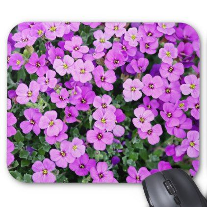 Small Purple Flowers Mouse Pad - image gifts your image here cyo personalize