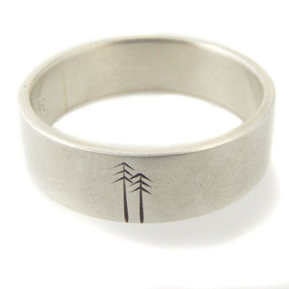 Hey, I found this really awesome Etsy listing at https://www.etsy.com/listing/95063751/wedding-band-sterling-silver-woodland