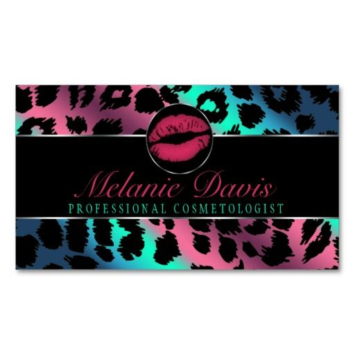 Chic Cosmetology Business Card Makeup Artist Business Cards