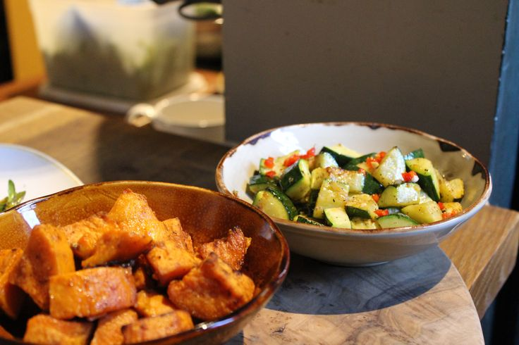 Little extras of our kitchen menu; patatas bravas and courgettes sprinkled with garlic and red chilli.   #BurleyManor #BurleyManorRestaurant #Mediterranean #Food #GoodFood #Tasty #Dishes #NewForest