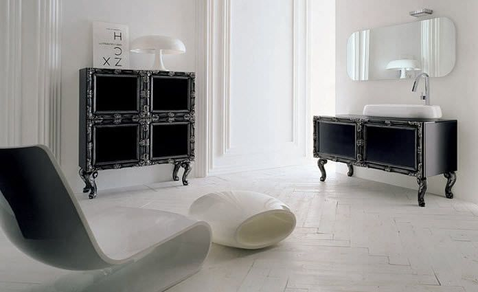 Delichon - Compab  #mobili #riccelli #mobiliriccelli #collection #bagno #bathroom #furniture #design #interior #classic #home #indoor #compab #arredamento #casa #arredo  #classic #black #white