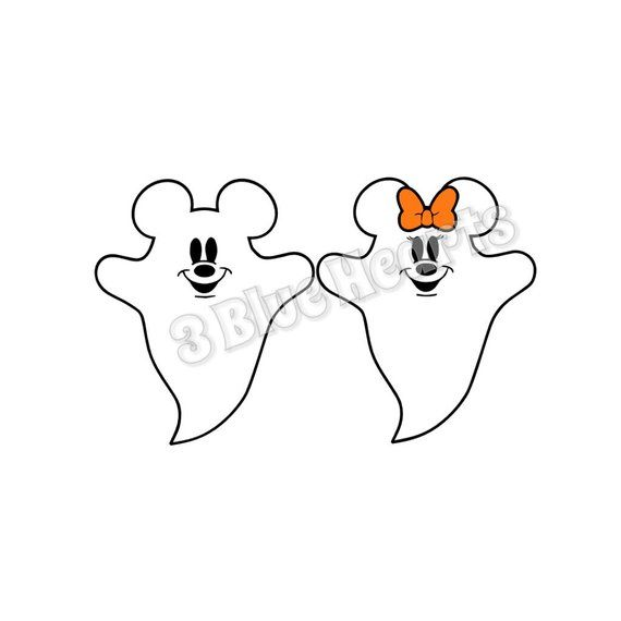 Mickey And Minnie Ghost Studio Dxf Pdf Jpg Svg Mickey Ghost Minnie Ghost Disney Halloween Disney Crafts Disney Halloween Coloring Pages For Girls