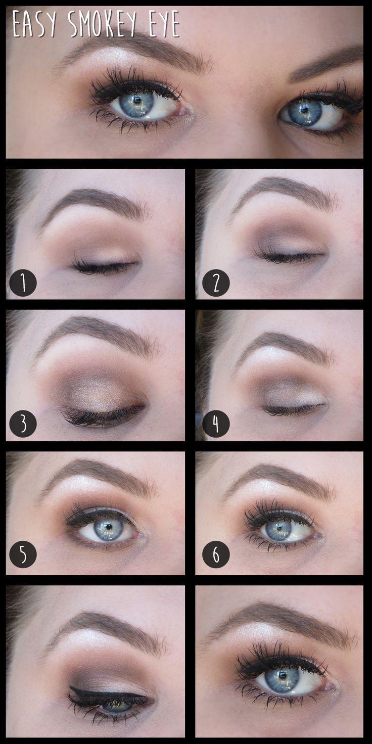 Easy 6 step smokey eye tutorial  Makeup, Smokey eye look, Tutorial, Eyes, blue eyes, MAC, urban decay
