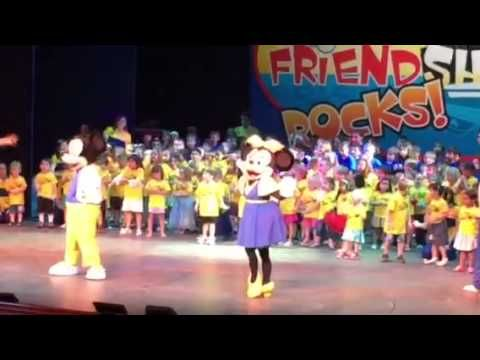 Disney Cruise Youth Clubs show that Friendship Rocks