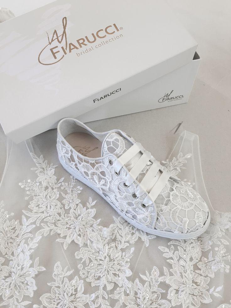 Elegant and comfortable! This cute bridal sneaker has a beautiful, transparent …