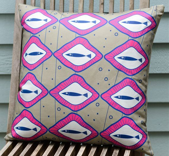 Scandinavian inspired fish pillow cover taupe made by TroskoDesign on Etsy: https://www.etsy.com/listing/227354391/scandinavian-inspired-fish-pillow-cover?ref=shop_home_active_15