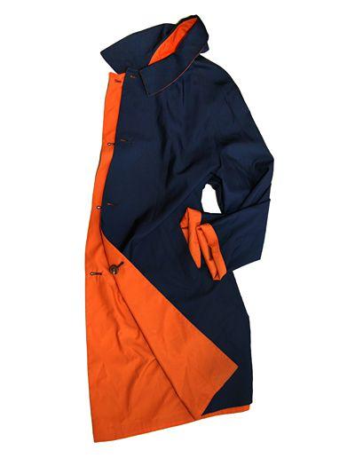 Kiton reversible silk raincoat
