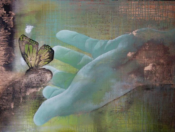 Art by Jane Andersen - Caught 90X120 cm