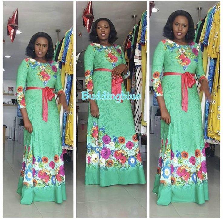 Gaun African Untuk Wanita Nyata Polyester Afrika Gaun 2017 New Fashion Style Wanita