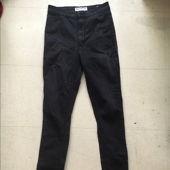 High Waisted Black Jeans High waisted black jeans, skinny fit. Great condition, barely worn. Bullhead Jeans Skinny