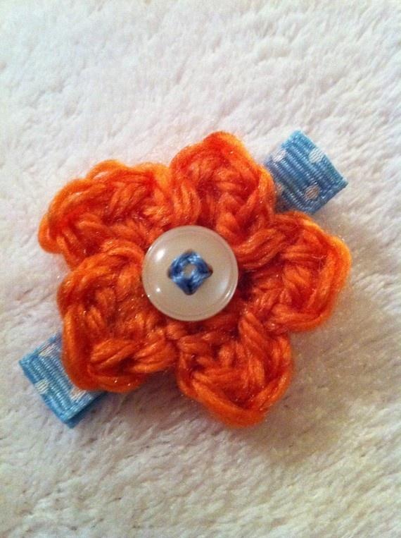 Handmade Crochet Hair Clip
