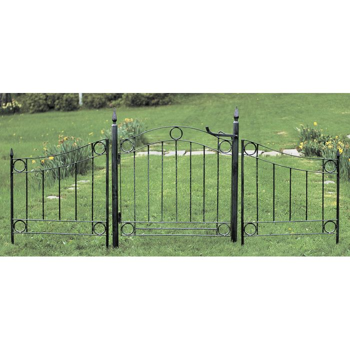 ACHLA Country Cottage Wrought Iron Garden Gate You'll Love | Wayfair