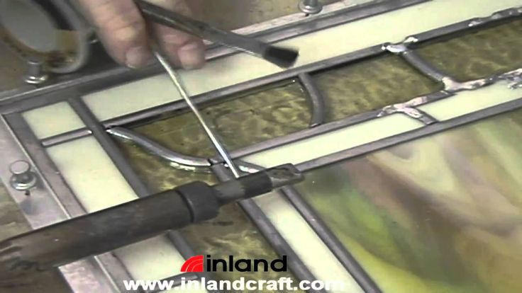 The secret to a good looking stained glass project lies in the quality of the solder seams. Learn how to solder a leaded panel and get neat joints every time.