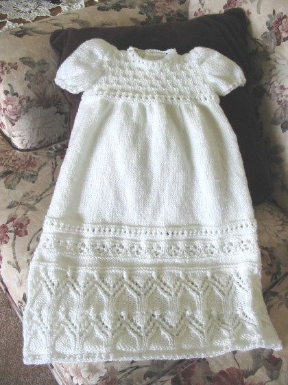 Tapestry Christening Gown by Judy Lamb Judy's Knitting Page