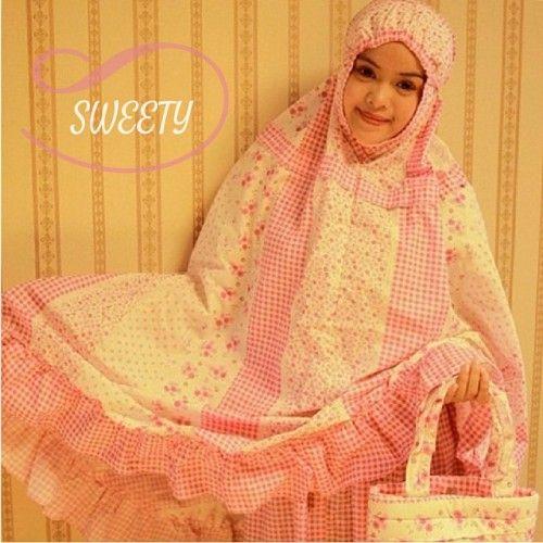 Mukena Cantik Sweety Pink, Mukena Katun Jepang - Muslim Online Shop | Yukbisnis