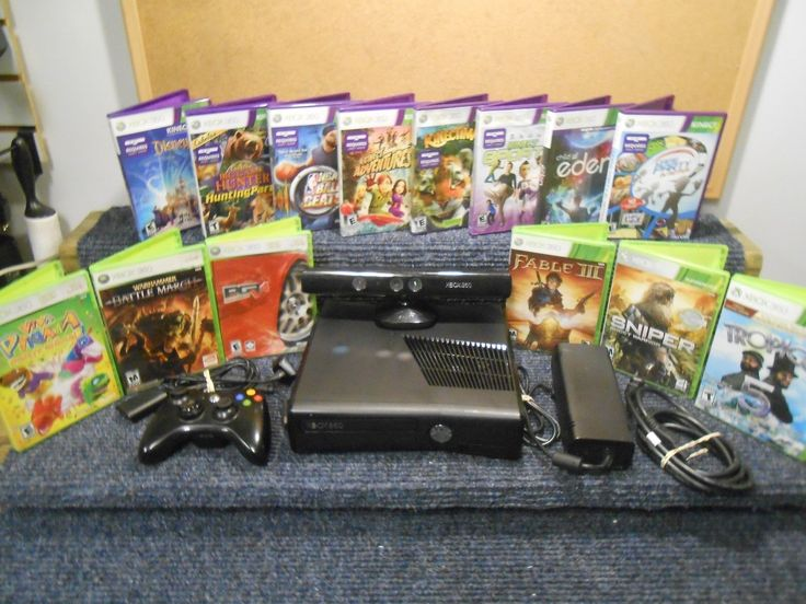 MIcrosoft Xbox 360 Console Kinect and Games Bundle 320gb HD