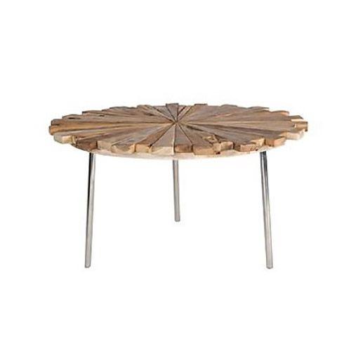 teak round coffee table maya