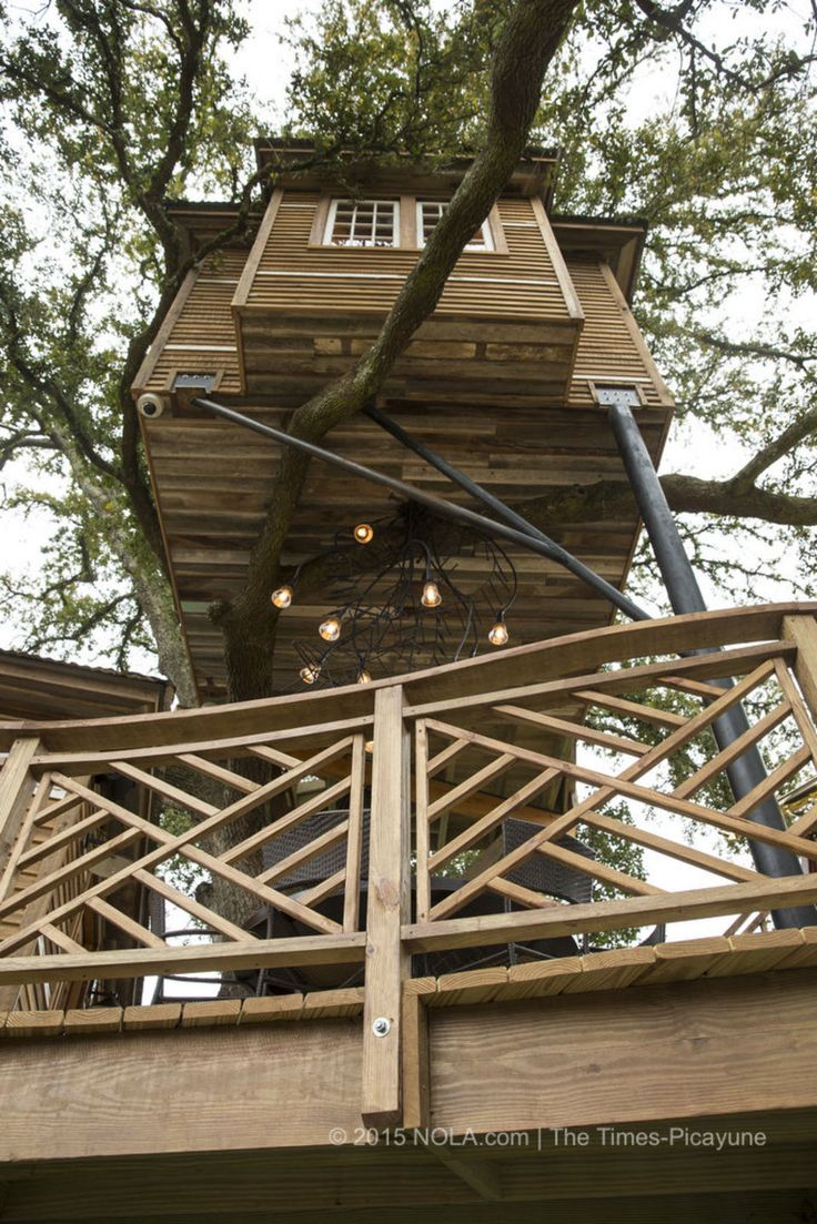 A deck below the treehouse that Raising Cane founder and CEO Todd Graves and his wife, Gwen, had built in Baton Rouge. The house was photographed on Thursday, March 5, 2015.(Photo by Chris Granger, Nola.com | The Times-Picayune)