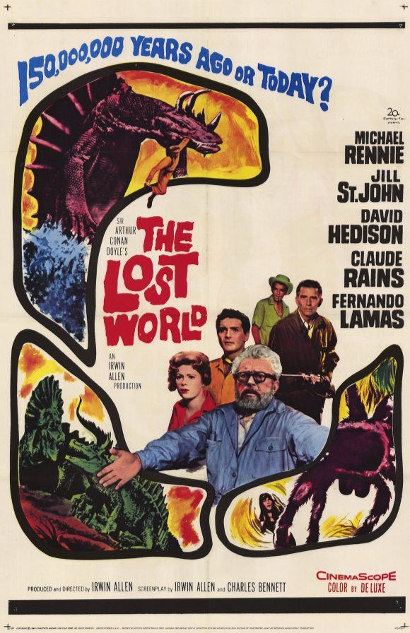 """The Lost World (1960) Sir Arthur Conan Doyle's classic tale of prehistoric beasts hidden in the modern world comes to life in this """"dandy of a thriller"""" (The Film Daily) from """"Master of Disaster"""" prod"""