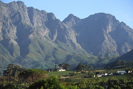 View from Franschoek Pass, Western Cape, South Africa