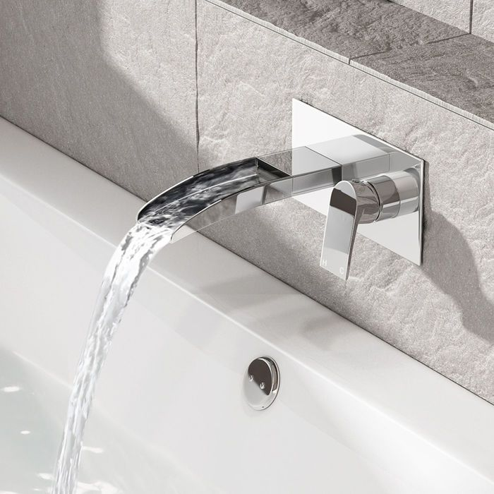Wondrous Denver Wall Mounted Waterfall Bath Filler In 2019 Spitia Download Free Architecture Designs Momecebritishbridgeorg